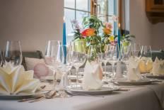 Tischdekoration, Ambiente, Landhotel Jungbrunnen